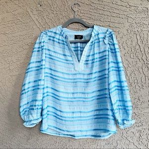 VICI Trip for Two Striped Textured Tunic Blouse